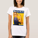 "Rosie the Riveter We Can Do It Vintage T-Shirt<br><div class=""desc"">Rosie the Riveter We Can Do It Vintage</div>"