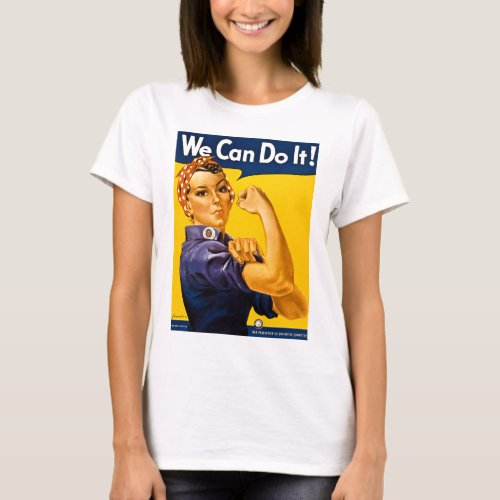 Rosie the Riveter We Can Do It Vintage T_Shirt