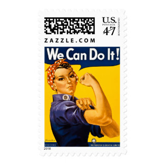 Rosie the Riveter We Can Do It! Vintage WWII Postage Stamp