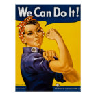 Rosie the Riveter We Can Do It!  Vintage WWII Poster