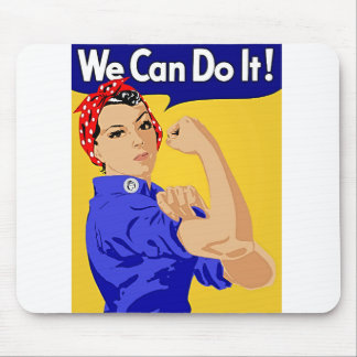 """Rosie the Riveter """"We Can Do It"""" World War II Mouse Pad"""