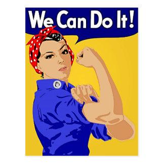 "Rosie the Riveter ""We Can Do It"" World War II Postcard"
