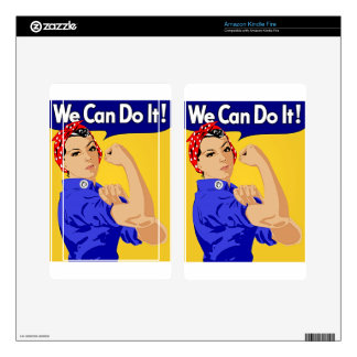 "Rosie the Riveter ""We Can Do It"" World War II Decal For Kindle Fire"