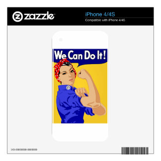 "Rosie the Riveter ""We Can Do It"" World War II Skins For The iPhone 4S"