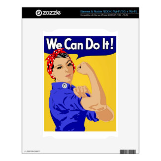 "Rosie the Riveter ""We Can Do It"" World War II NOOK Decal"