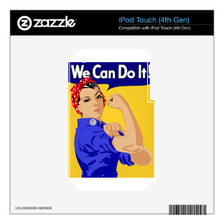 "Rosie the Riveter ""We Can Do It"" World War II Decal For iPod Touch 4G"