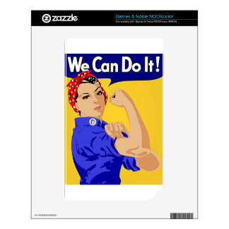 "Rosie the Riveter ""We Can Do It"" World War II NOOK Color Decals"
