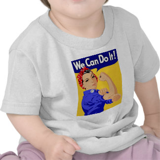"""Rosie the Riveter """"We Can Do It"""" World War II Shirts"""