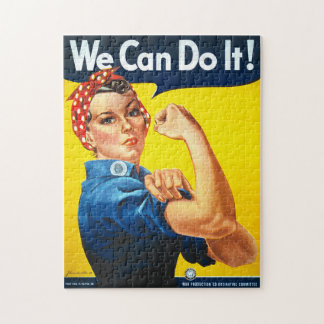 Rosie the Riveter We Can Do It World War Two Jigsaw Puzzle