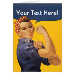 Rosie the Riveter We Can Do It! Your Text Here Card