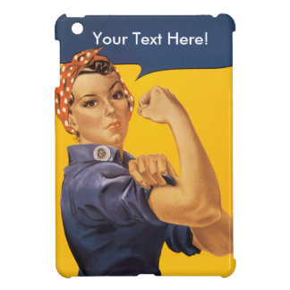 Rosie the Riveter We Can Do It! Your Text Here iPad Mini Cover