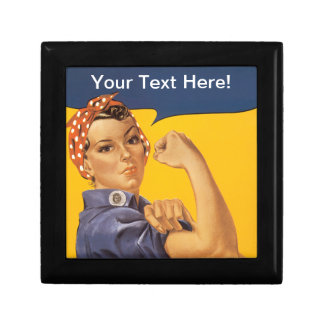 Rosie the Riveter We Can Do It! Your Text Here Jewelry Box
