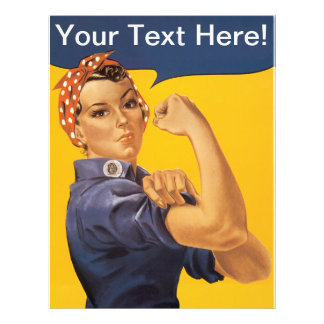 Rosie the Riveter We Can Do It! Your Text Here Letterhead