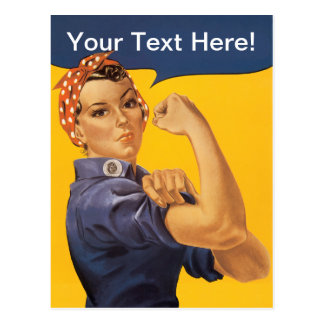 Rosie the Riveter We Can Do It! Your Text Here Postcard