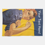 Rosie the Riveter We Can Do It! Your Text Here Towels