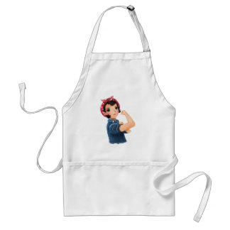 rosie the riveter women we can do it! WWII Adult Apron