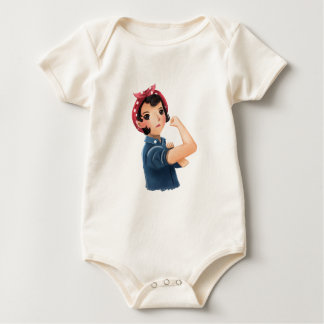 rosie the riveter women we can do it! WWII Baby Bodysuit