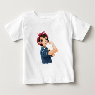 rosie the riveter women we can do it! WWII Baby T-Shirt