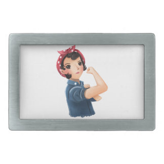 rosie the riveter women we can do it! WWII Belt Buckle