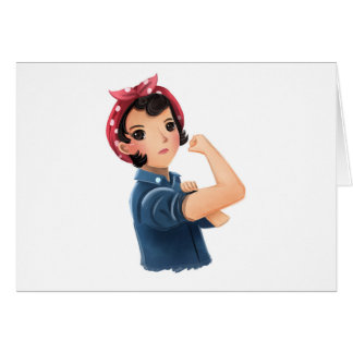 rosie the riveter women we can do it! WWII Card