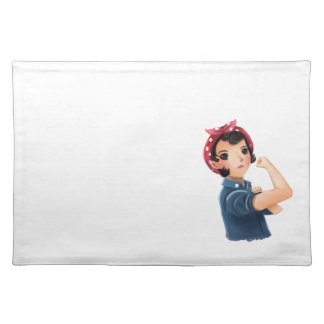 rosie the riveter women we can do it! WWII Cloth Placemat