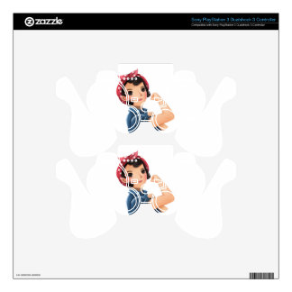 rosie the riveter women we can do it! WWII Decal For PS3 Controller
