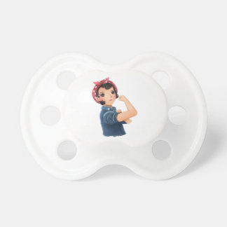 rosie the riveter women we can do it! WWII Pacifier