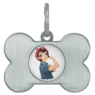 rosie the riveter women we can do it! WWII Pet Name Tag