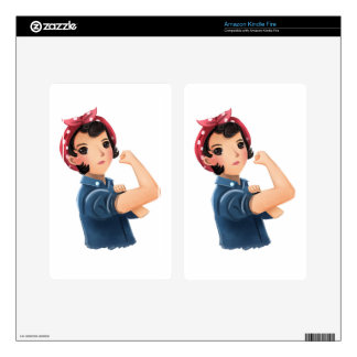 rosie the riveter women we can do it! WWII Decals For Kindle Fire