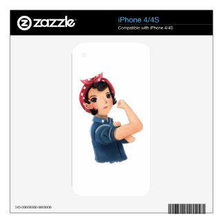 rosie the riveter women we can do it! WWII Skin For The iPhone 4
