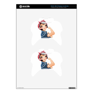 rosie the riveter women we can do it! WWII Xbox 360 Controller Decal