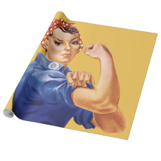 Rosie The Riveter Wrapping Paper
