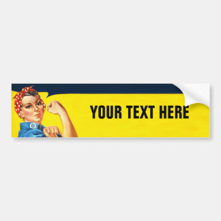 Rosie The Riveter WW2 War Effort Working Woman Bumper Sticker