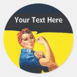 Rosie The Riveter WW2 War Effort Working Woman Classic Round Sticker