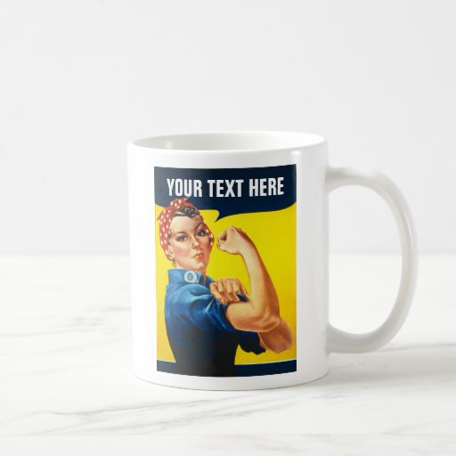 Rosie The Riveter WW2 War Effort Working Woman Mug