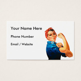 Rosie The Riveter WWII Poster Business Card