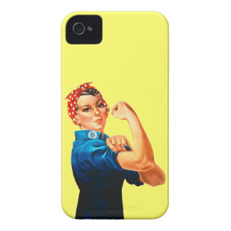 Rosie The Riveter WWII Poster iPhone 4 Case-Mate Case