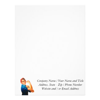 Rosie The Riveter WWII Poster Letterhead