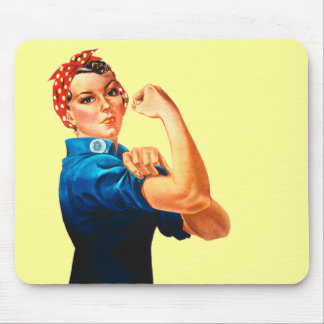 Rosie The Riveter WWII Poster Mouse Pad