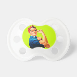 Rosie The Riveter WWII Poster Pacifiers