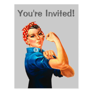 Rosie The Riveter WWII Poster Postcard