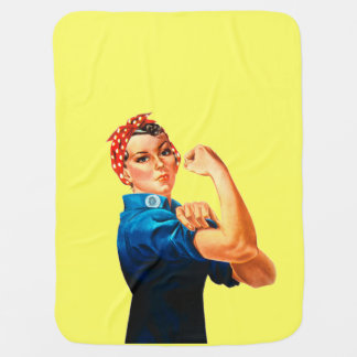 Rosie The Riveter WWII Poster Receiving Blanket