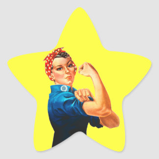 Rosie The Riveter WWII Poster Star Sticker