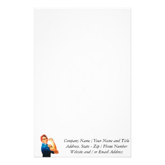 Rosie The Riveter WWII Poster Stationery