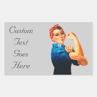 Rosie The Riveter WWII Poster Rectangular Sticker