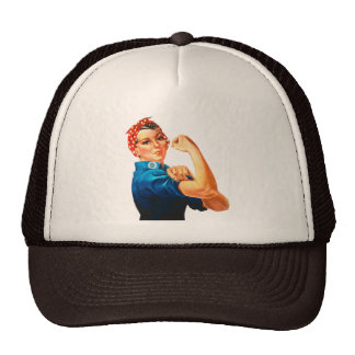 Rosie The Riveter WWII Poster Trucker Hat