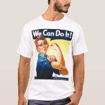 Rosie the Riveter Yellow Gradient T-Shirt