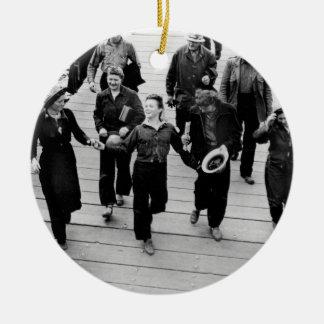 Rosie the Riveters on the Boardwalk Ceramic Ornament