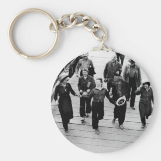 Rosie the Riveters on the Boardwalk Keychain