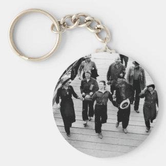 Rosie the Riveters on the Boardwalk Keychain
